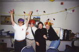 Marquette Action Program volunteers celebrate Mardi Gras at the Harmony House L'Arche Community,...