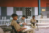 Eric Olson tutors students at St. Margaret's, 1997