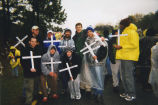 A group from Marquette protests at the School of the Americas, 2000