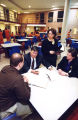 Marquette Law School faculty and students discuss a pro bono case at the Milwaukee County Jail,...