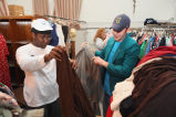 Marquette students sort clothing, 2006