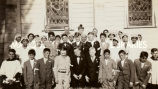 Confirmation class with Bishop Thomas Kiely Gorman at St. Theresa's Mission, 1935