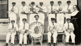St. Stephen's boys' band wearing costumes furnished by Sister Rose, 1935