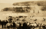 Wild west show at Apostle Islands Indian pageant, 1924?