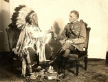 Chief Plenty Coups and Italian General Diaz, 1920