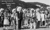 President Calvin Coolidge and Mrs. Coolidge with Indian leaders at Mt. Rushmore dedication, 1927