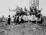 Benediction during Corpus Christi celebration at Wounded Knee massacre site, 1930