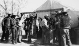 Navajos taking signatures for mission, 1933? - 1943?
