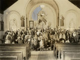 Congregation at Holy Family Mission, 1926