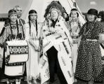 Archbishop William D. O'Brien with Pendleton Indians, 1954?