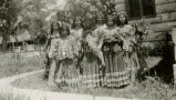 Apache Indian girls in cloth dresses, 1934