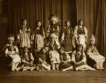 Girls in traditional dress at Loretto Indian School, 1910? - 1925?