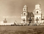 School children outside San Xavier del Bac Mission, n.d.