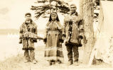 Tanana chief and family in traditional dress, 1939?