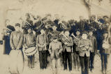 Jesuits with youth band, 1910?