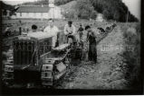 Planting with tractor at Holy Cross Mission, 1956