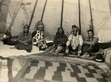 Woodcock family in tipi, 1924