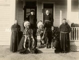 Capuchins and Indian visitors, undated