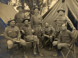 Governor Locke and state militia officers, 1910? - 1918?