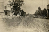Keshena, WI, looking toward church, 1906?