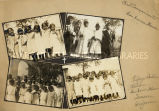 Composite of Papago children at San Xavier del Bac, 1916