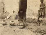 Grinding clay for pottery, 1920? - 1922?
