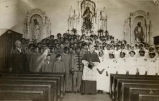 Bishop Thomas Conaty with Confirmation class, 1910