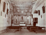 Interior of church at Mission San Miguel, 1920?