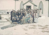 Parishoners of St. Lawrence Church on Easter Sunday, 1944