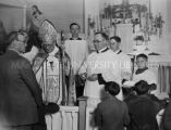 Bishop George J. Finnigan at confirmation, 1928