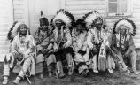 Siksika elders in traditional dress, 1930?