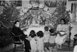 Rev. Patrick MacCluley, O.F.M. attending Santo Niño at Toledo household, 1949