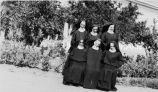 Benedictine sisters on mission grounds, 1932