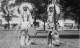 Holy Horse & Eagle Staff in ceremonial dress, n.d.