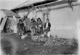 Native religious sisters cutting turnips, 1936?