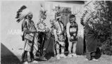 Five Kiowa boys in costume, 1929