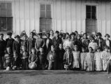 School group in front of building, 1924