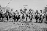 Chiefs on horseback in native dress, n.d.