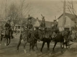 Pawnee Indians on horseback, 1923