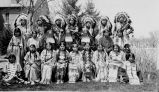 "Cast in tribal dress for school play, ""Coaina,"" 1931"