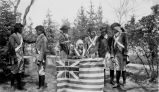 Holy Rosary Mission school play about Nathan Hale and George Washington, 1935