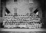 Girls at Holy Rosary Mission school, 1900?