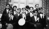 Menominee Indian boys at first communion, 1929
