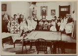 Making lace at St. Mary's School, 1890?