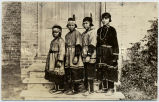 Oneida girls in traditional dress, 1924?
